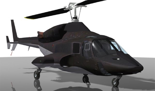 Airwolf Bell 222 Helicopter3D model