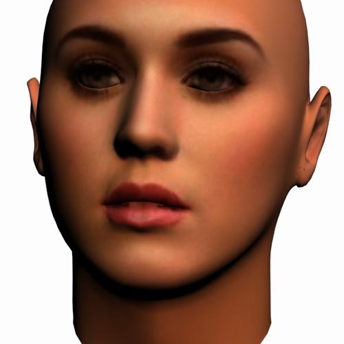 katy perry head3D model