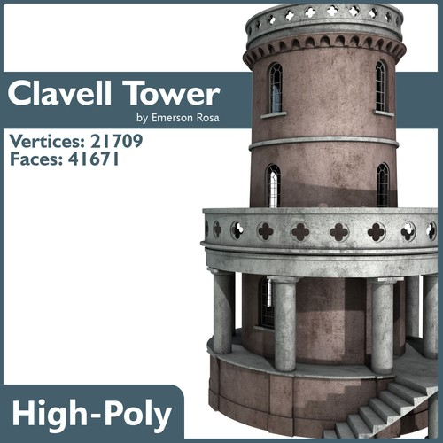 Clavell Tower3D model