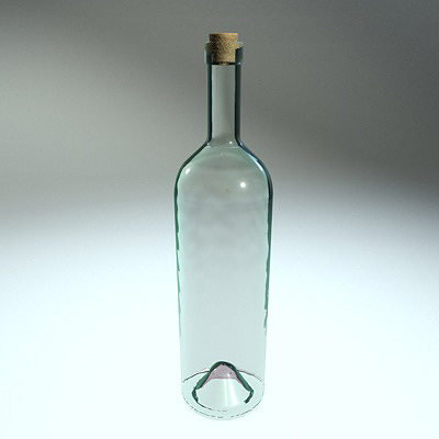 clear glass bottle 3d model obj mtl 3ds fbx c4d dxf X 1