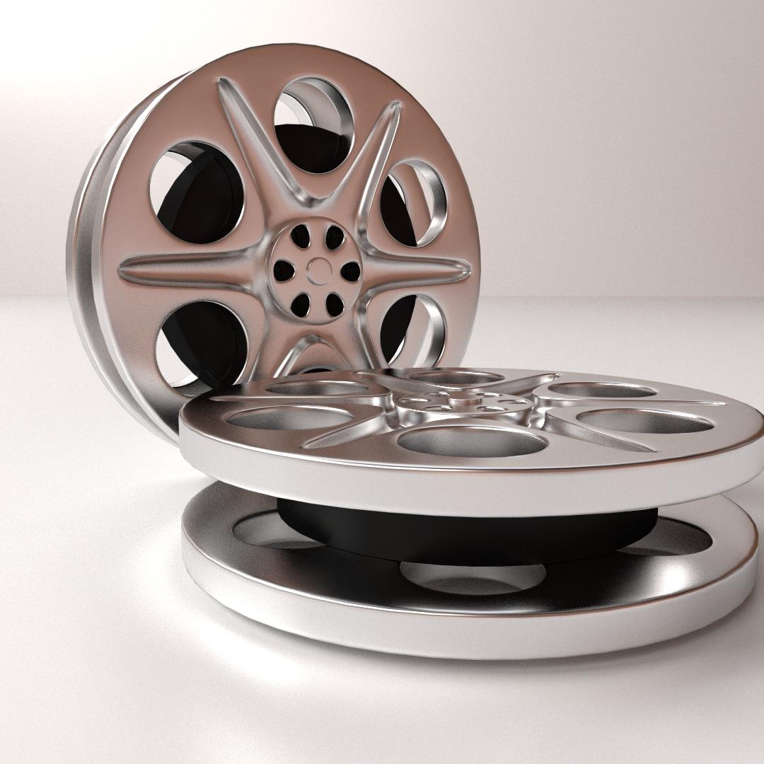 Film Reel 3D Model 3DS FBX BLEND DAE | CGTrader.com
