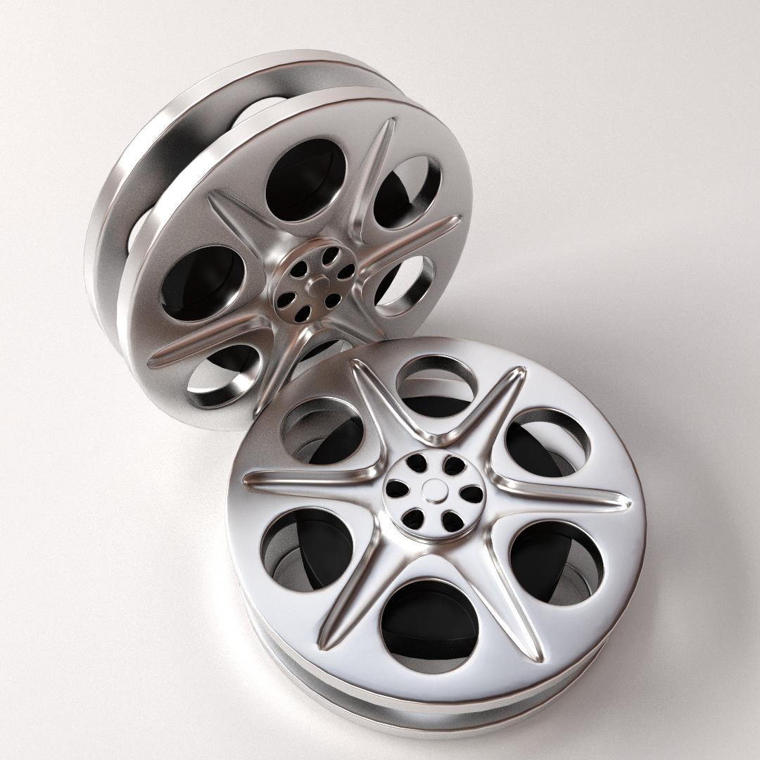 Film Reel 3D Model .3ds .fbx .blend .dae - CGTrader.com
