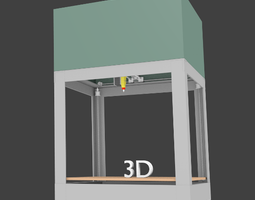 Animated 3D printer animated