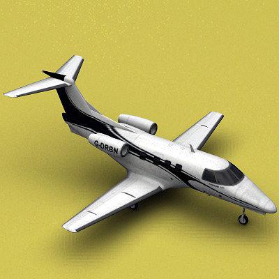 embraer phenom 100 3d model max 3ds fbx c4d lwo lw lws tga 1
