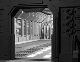 3D model Science fiction door