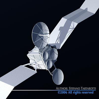 satellite 3d model obj 3ds c4d dxf 1