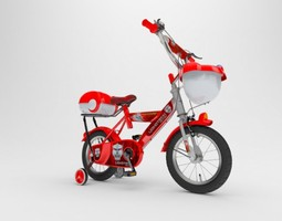Kids Bicycle 3D asset game-ready