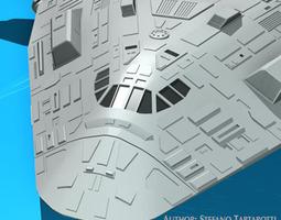 3d sci-fi space shuttle