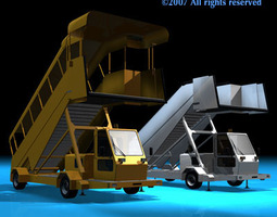3d airport stairs vehicle