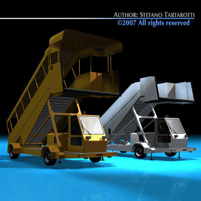 Airport stairs vehicle3D model