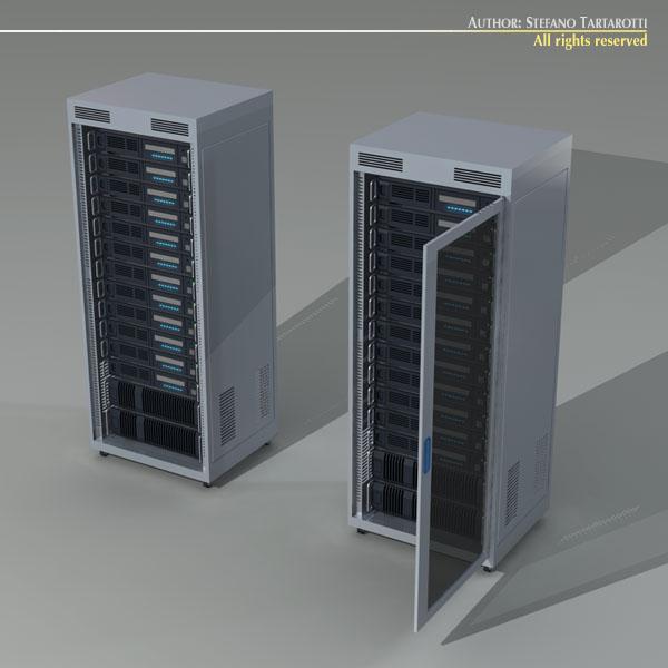 Server Rack 3d Model Obj 3ds C4d Dxf Cgtrader Com