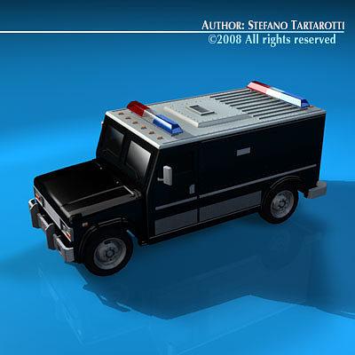 swat truck 3d model obj 3ds c4d dxf 1