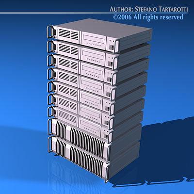 server 3d model obj mtl 3ds c4d dxf 1