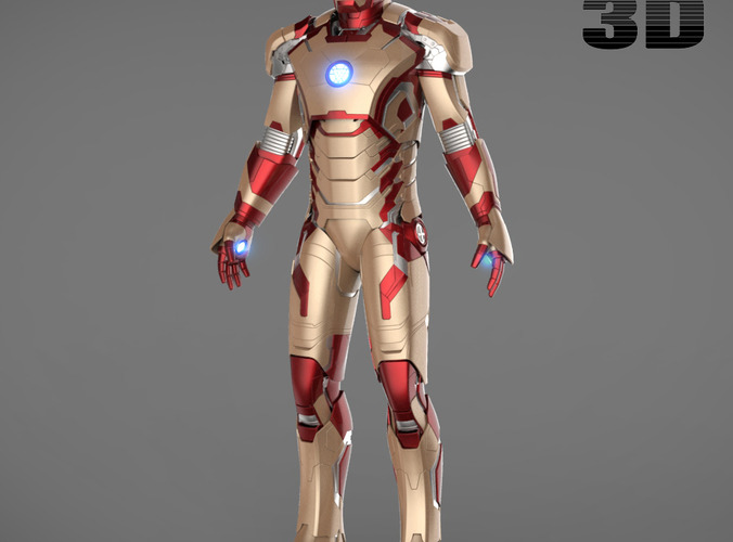 Iron man 3 suits mark 42 mark 38 and mar 3d model