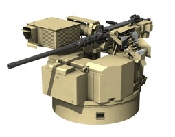 Remote weapon station RWS - Browning M2 3D model