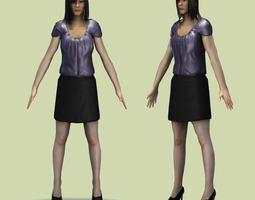 Rigged Maya Female Avatar  3D Model