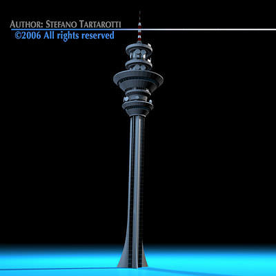 communications tower 3d model obj 3ds c4d dxf 1