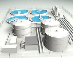 Treatment plant 3D model