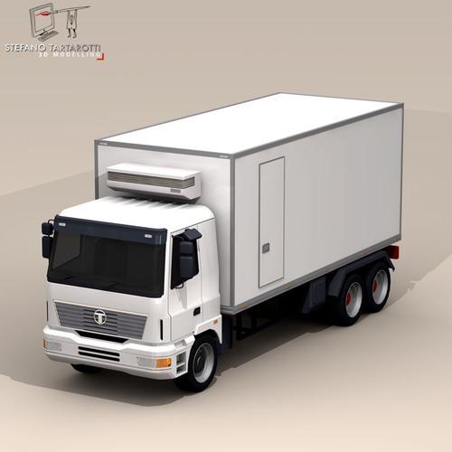Fridge Truck 3d Model Obj 3ds Fbx C4d Dxf Dae