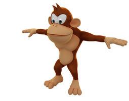 Cartoon Monkey Model 3D Model