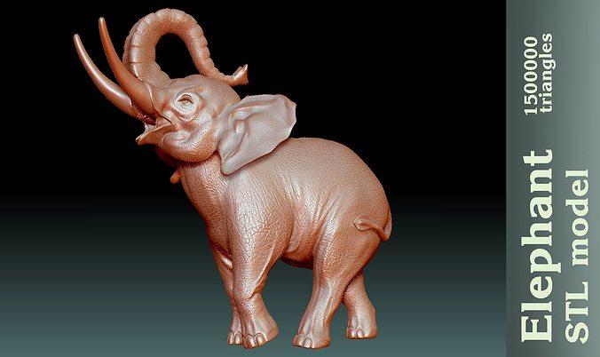 Elephant stl 3D print model