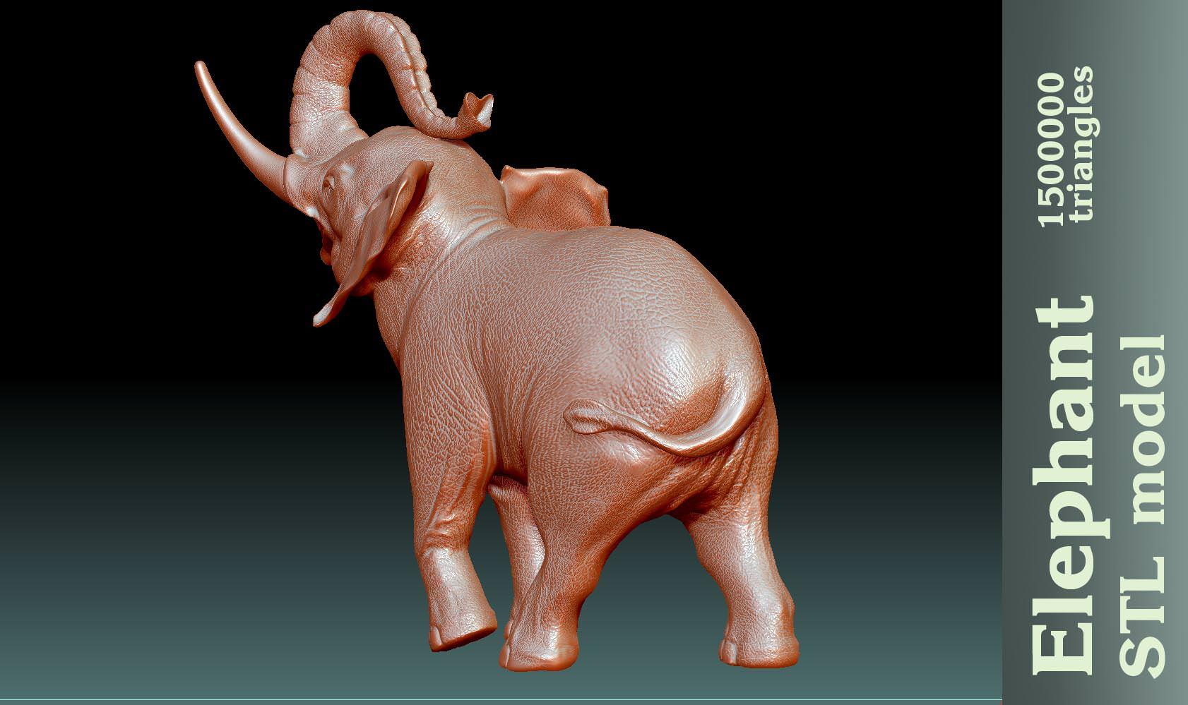 Elephant Stl 3d Model 3d Printable Stl Cgtrader