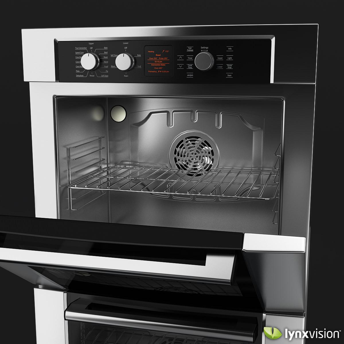 bosch 300 series double oven 3d model max obj fbx. Black Bedroom Furniture Sets. Home Design Ideas
