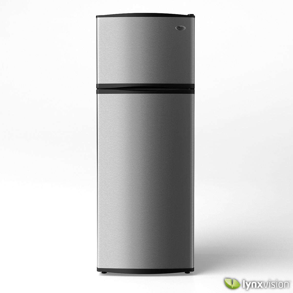 Whirlpool Refrigerator 3D Model MAX OBJ FBX - CGTrader.com