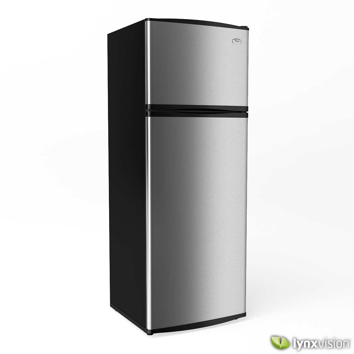whirlpool refrigerator 3d model max obj fbx. Black Bedroom Furniture Sets. Home Design Ideas