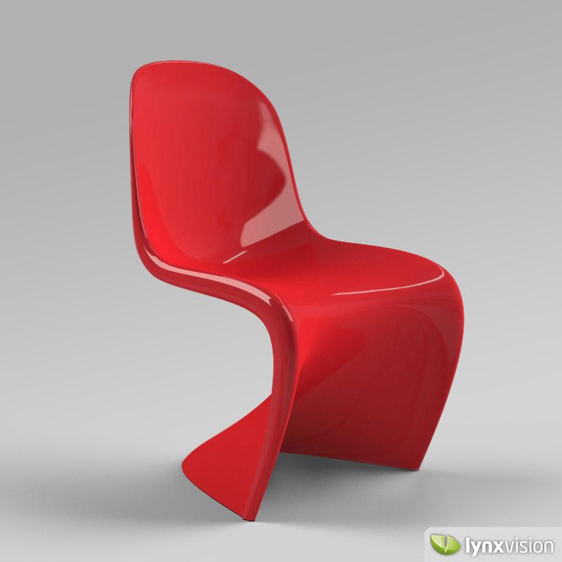 Panton Chair 3d Model Max Obj 3ds Fbx Mtl 1 ...