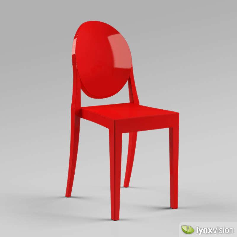 ... Victoria Ghost Chair By Philippe Starck 3d Model Max Obj 3ds Fbx Mtl 3  ...