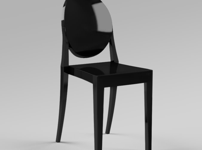 victoria ghost chair by philippe starck 3d model max obj 3ds fbx. Black Bedroom Furniture Sets. Home Design Ideas