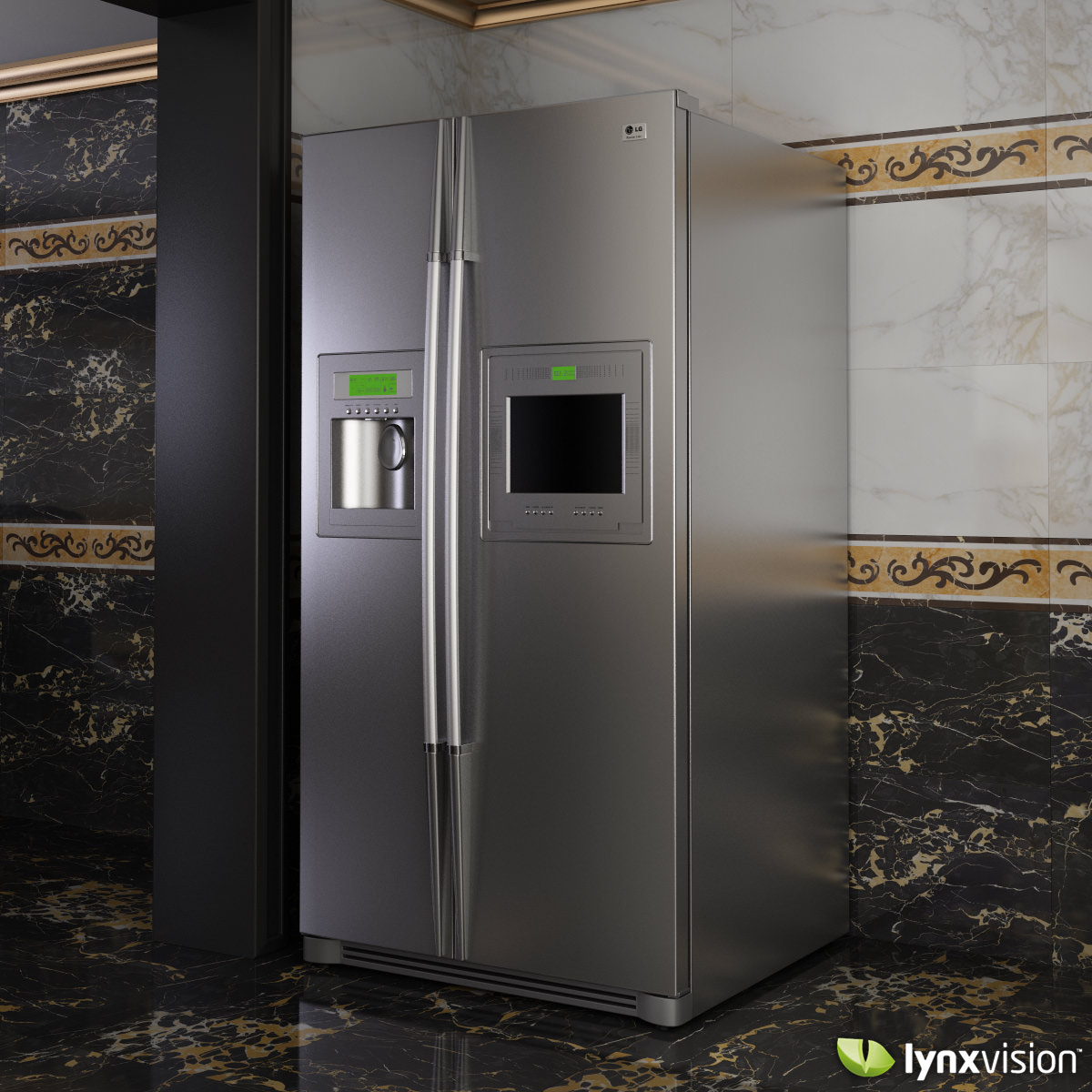 Lg Side By Side Refrigerator 3d Cgtrader