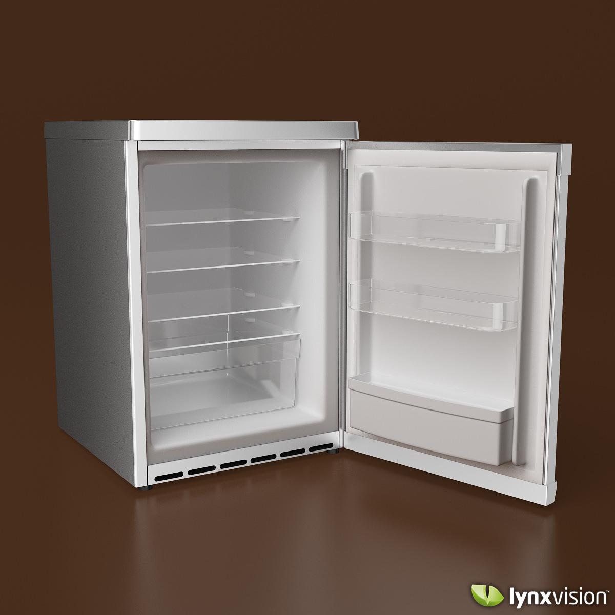 Bosch Compact Refrigerator 3D Model .max .obj .fbx