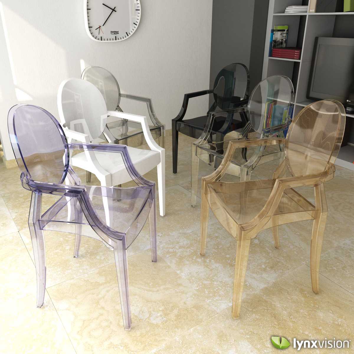 louis ghost armchair by philippe starck 3d model max obj 3ds fbx louis ghost armchair by philippe starck 3d model max obj 3ds fbx stl mtl 1