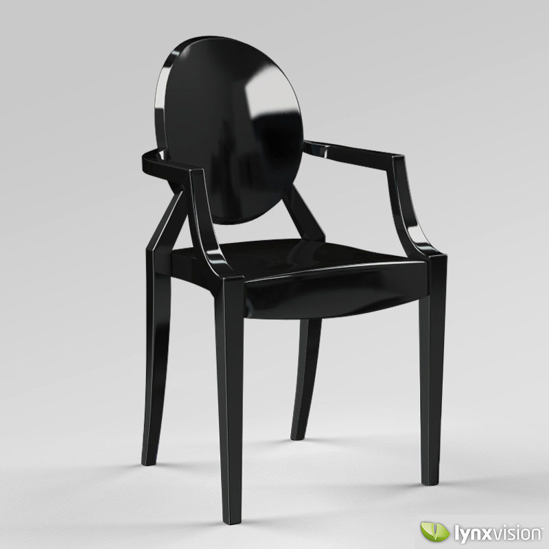 ... Louis Ghost Armchair By Philippe Starck 3d Model Max Obj 3ds Fbx Stl  Mtl 6 ...