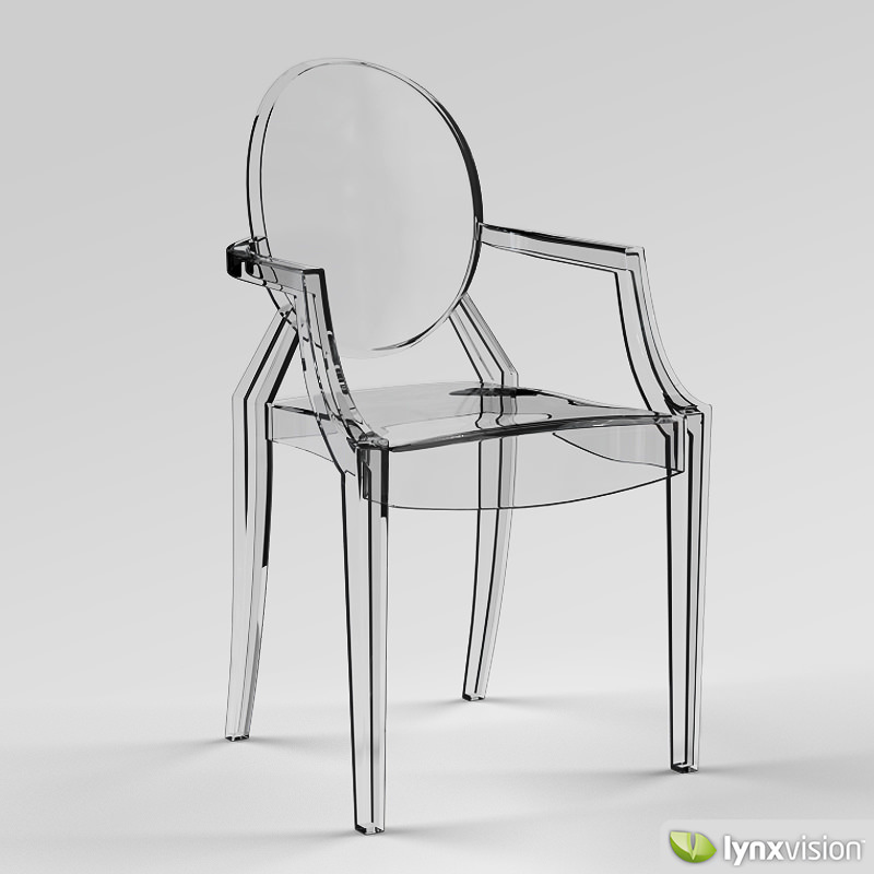 louis ghost armchair by philippe starck 3d model max obj 3ds fbx stl  mtl 3  3D Louis Ghost Armchair by Philippe Starck   CGTrader. Ghost Chair Louis. Home Design Ideas