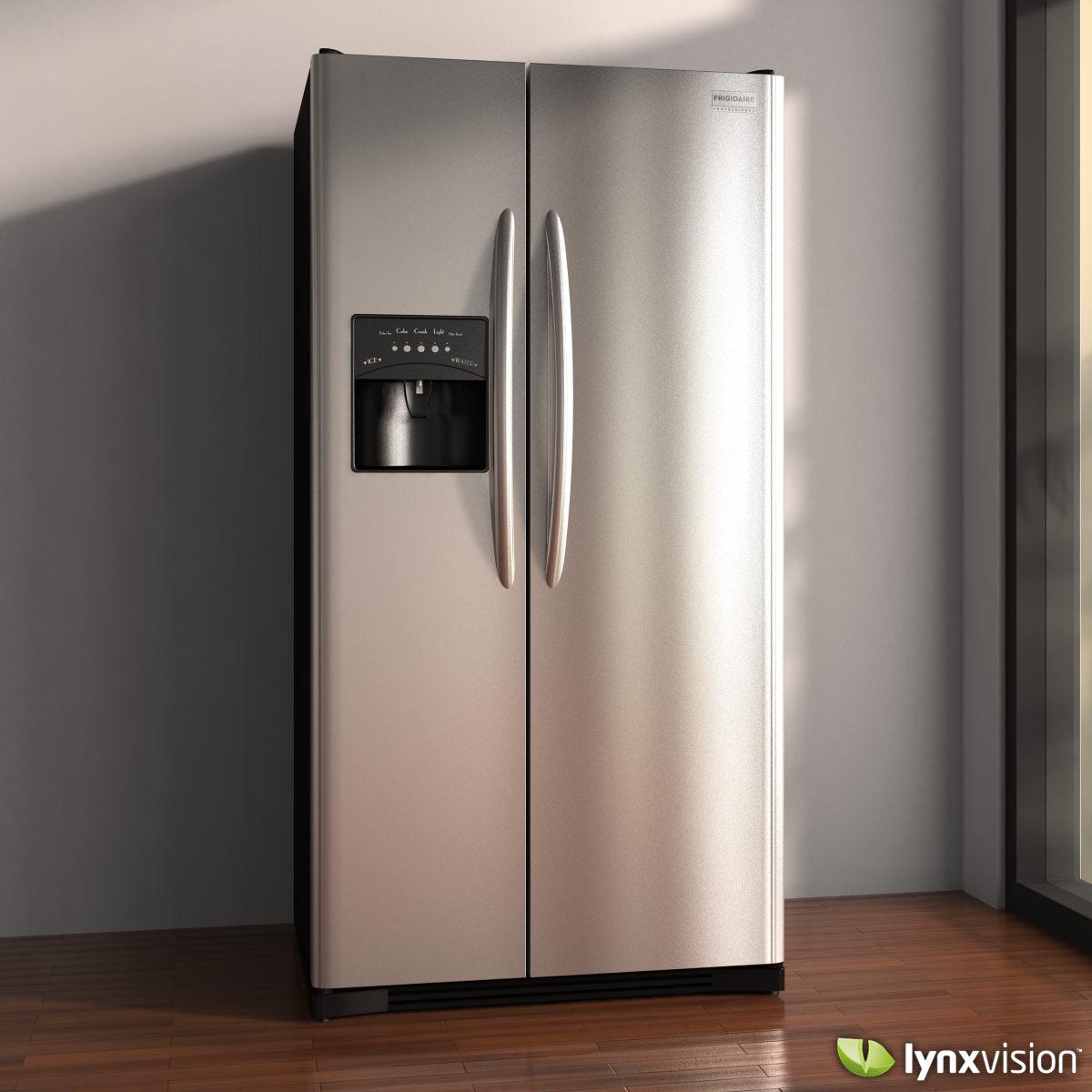 frigidaire professional refrigerator 3d model max obj. Black Bedroom Furniture Sets. Home Design Ideas