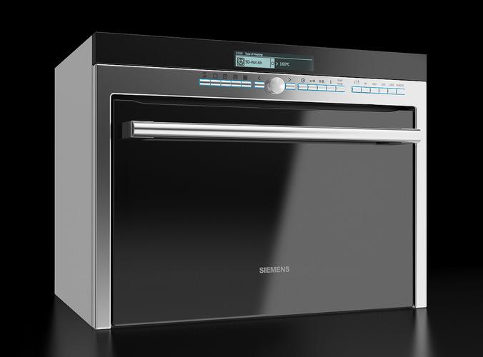 Siemens Multi Function Microwave Oven 3D Model x obj
