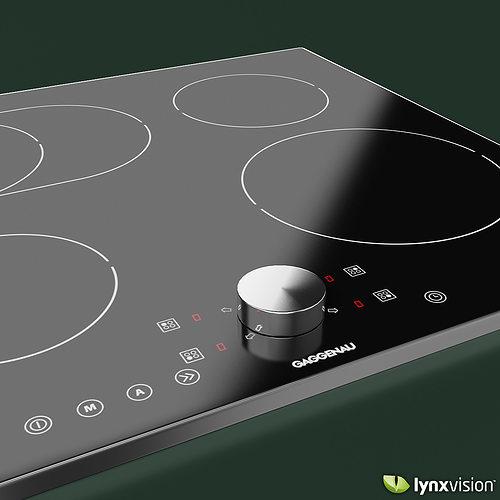 ... Gaggenau Induction Cooktop 3d Model Max Obj Fbx Mtl 2 ...