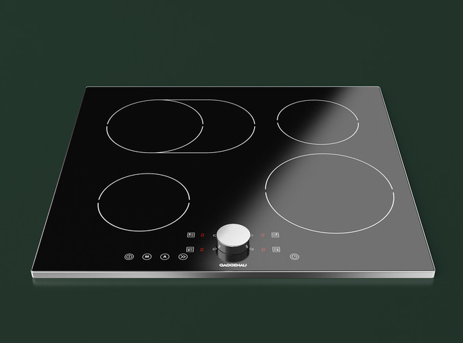 Gaggenau Induction Cooktop 3D Model .max .obj .fbx