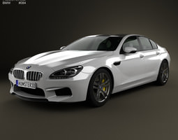BMW M6 Gran Coupe F06 2013 3D Model