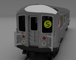 3d new york subway train
