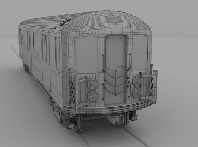 New York Subway Train 3d Model Obj Blend Cgtrader Com
