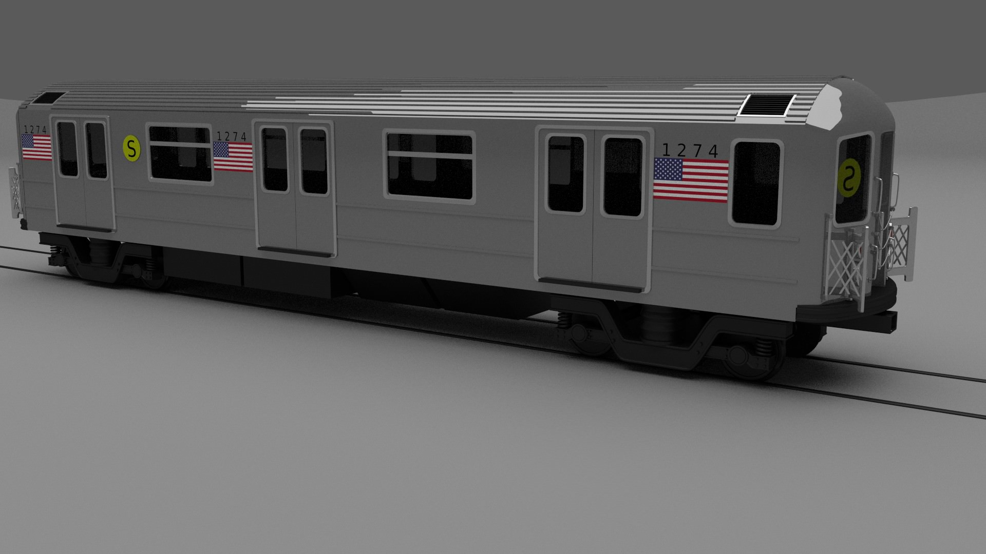 Kitchen Designers Jobs New York Subway Train 3d Model Obj Blend Cgtrader Com