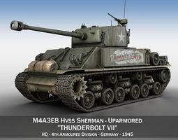 3D model M4A3E8 HVSS Sherman - Easy Eight