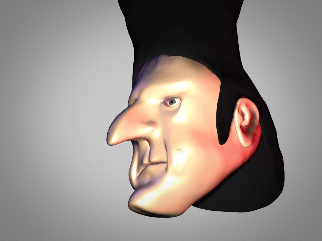 Bad Guy Head 3d Model Max Obj 3ds Fbx Dxf Cgtrader Com