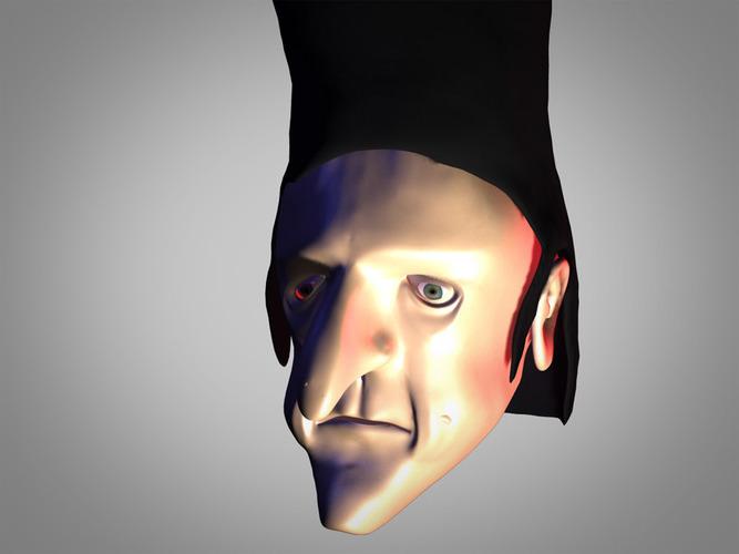 bad guy head3D model