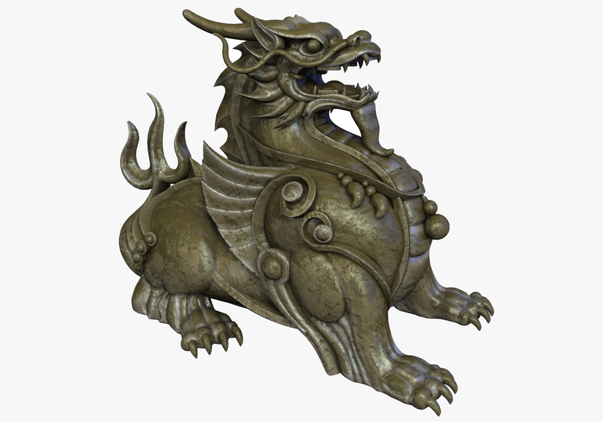 Chinese Supernatural Beast Pixiu 3d Model Game Ready Max