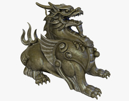 Chinese Supernatural Beast Pixiu 3D Model